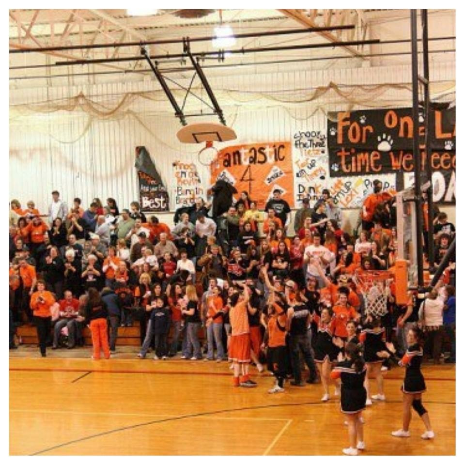 Cheering at my last home game - 2009