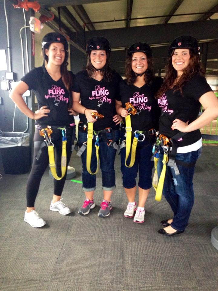 Getting read to zipline!
