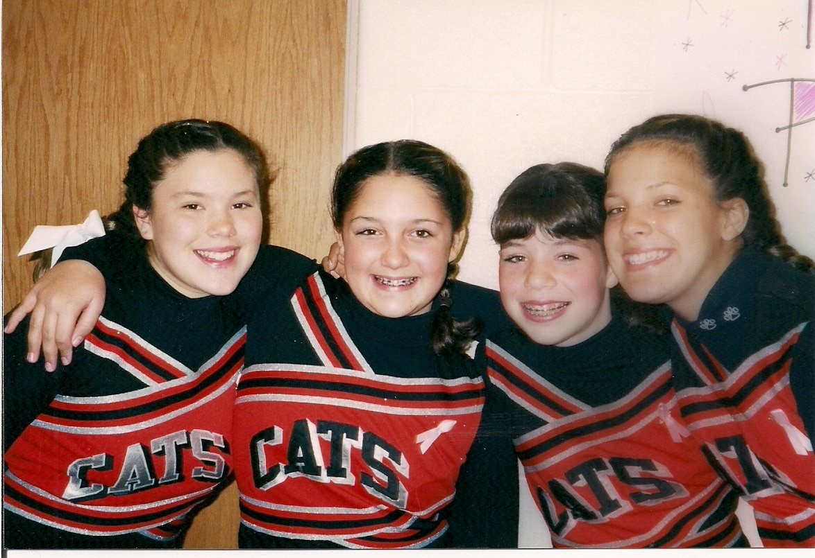 Cheerleaders & best friends (7th grade) - GO CATS!