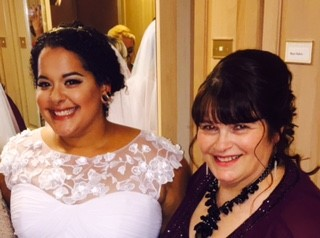 October 2015 - The beautiful bride and mom!
