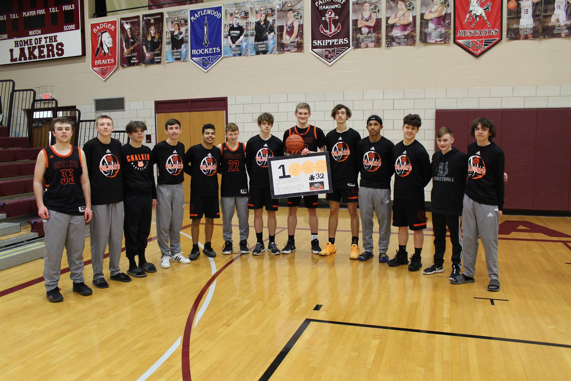1000 Point Scorer and Team